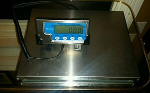 150 Lb X 0 05 Lb Salter Brecknell Lps 150 Portable Shipping Scale Used