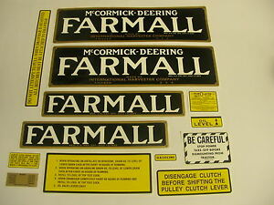 Ihc Farmall Regular Tractor Decal Ser New Free Shipping