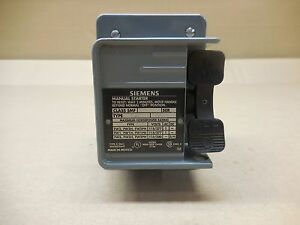 1 New Siemens Smf fw1 Smffw1 Starter Manual Toggle Switch With Guard