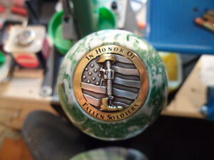 In Honor Of Fallen Soldiers 6 Pool Ball Knob Dillon Hornady RCBS Reloading Press