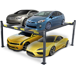 Bendpak 9 000 Lb Capacity 4 Post Double Car Lift Hd 9swx Automotive Storage
