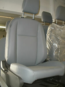 Ford Transit Oem Front Row Passenger Seat Gray Vinyl With Base And Airbag
