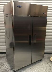 New 2 Door Commercial Refrigerator Cooler Stainless Nsf Atosa Mbf8005 2212 Food