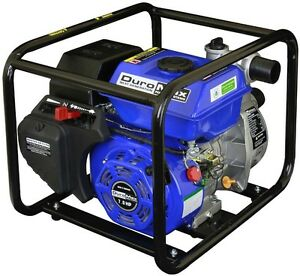 Portable Utility Water Pump Gas Powered 7 Hp 2 In Heavy Duty Pool Flood Mover