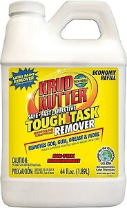 Tough Task Remover Cleaner Degreaser Solvent 1 2 Gallon 64 Oz Krud Kutter Kr642