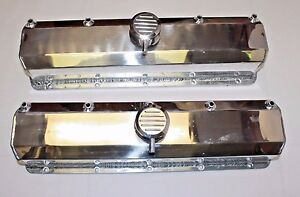 Oldsmobile Sheet Metal Aluminum Valve Covers With Billet Breathers 350 403 455