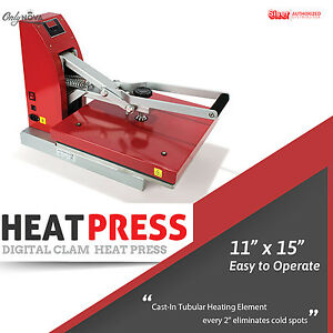 Siser Digital Clam Heat Press 11 x15 Free Shipping