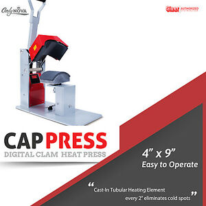 Siser Digital Clam Cap Heat Press 4 x 9 Free Shipping