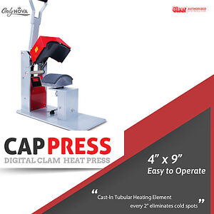 Siser Digital Clam cap heat Press 4 x9 Free Shipping