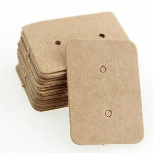 Package Cards Paper Cards Earring Holder Display Cards Ear Studs Hanging Cards