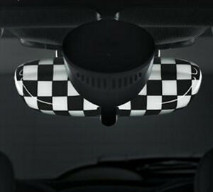 Oem Mini Cooper F Body Rear View Mirror Cover Checkered Flag For Cars W O Alarm