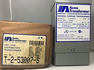 General Purpose Transformer Acme Electric T253007s Nos