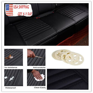 Pu Leatherette Long Seat Car Seat Cushion Cover Car Interior Seat Covers Mat