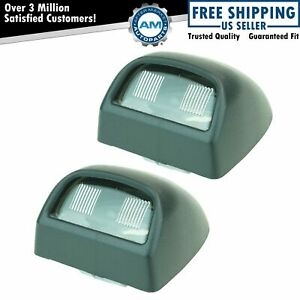 Rear License Plate Light Lens Pair Set For Silverado Sierra Pickup Escalade