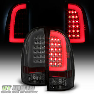 For Smoked 2005 2015 Toyota Tacoma Trd Led Tube Tail Lights Brake Lamps 05 15