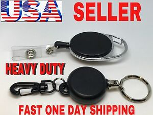 H d Retractable Steel Reel Recoil Chain Id Holder Badge Key Ring Christmas Gift