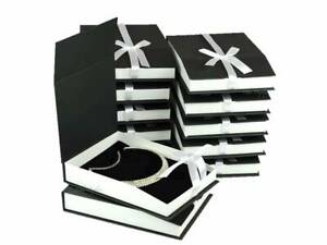 Lot Of 12 Necklace Box Black Jewelry Box Large Necklace Box Showcase Gift Box