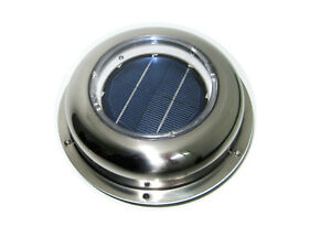 Eco Solar Powered Vent Fan Exhaust Ventilation Stainless Steel For Roof Boat Car
