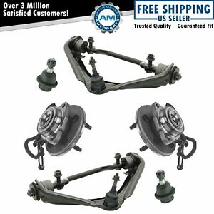Control Arms Ball Joints Wheel Hubs Front Kit Set Of 6 For Ford Lincoln Mercury