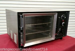 1 4 Sheet Mini Convection Oven Table Top Wisco 608 Super 4378 Commercial