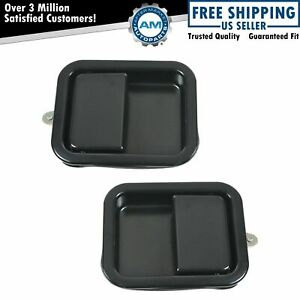 Outside Exterior Door Handles Black Left Right Pair Set For Jeep Wrangler Cj7