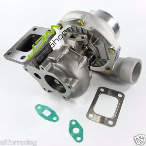 Gt35 A R 63 Comp A R 70 T3 Flange 400hp 5 Bolt Oil Cooled Turbo Turbocharger