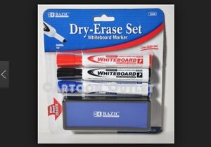Bazic Whiteboard Markers With Eraser