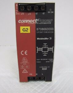 Weidmuller Connect Power Cp Snt 70w 24v 3a 8708660000 Power Supply