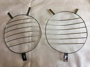 Splitscreen Headlight Grills Vw Beetle Bug Bus Ss Porsche 356 Lines Mesh Pair