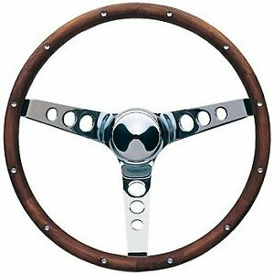 Grant Steering Wheel Classic Wood Chrome 15 Inches