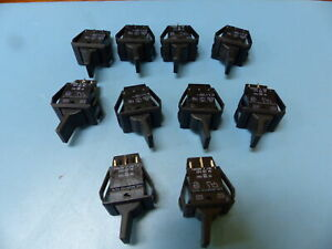 Carlingswitch 61016921 0 0 Qty Of 10 Per Lot Swi Spdt Toggle Blk Pnlmt