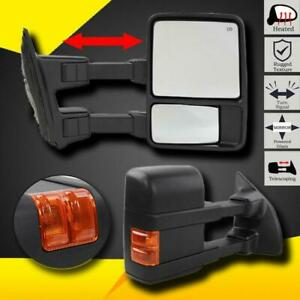 For 1999 2007 Ford F250 f350 Super Duty Power heated signal Towing Side Mirrors