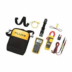 Multimeter Clamp Meter Fluke Combo Kit Electricians Accessories Storage Case