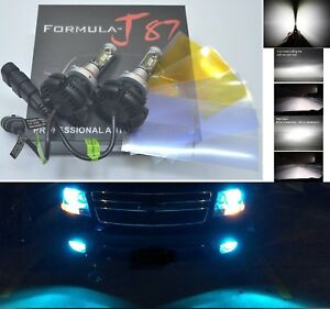 Led Kit X3 50w 9006 Hb4 8000k Icy Blue Two Bulbs Head Light Xenon Look Replace