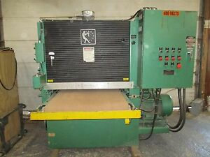Timesaver 237 2 Double Head Widebelt Sander 37 X 75 Belts Powered Lift Table