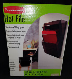 Rubbermaid Hot File Wall File Systems Letter 3 Pocket Manila Model 1660
