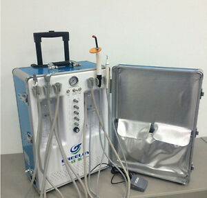 Portable Dental Unit With Air Compressor And 3 way Syringe 2h Gu p206s New Style