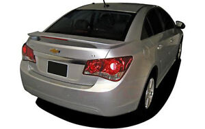 Unpainted Grey Primer Rear Spoiler W Led Light For 2011 2015 Chevy Cruze 4dr