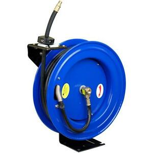 Pneumatic 50 Feet 1 2 Inch Retractable Air Compressor Hose Reel Storage Holder
