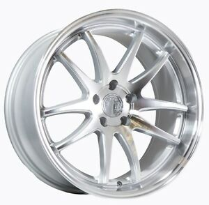19x9 5 11 Aodhan Ds02 5x114 3 22 Silver W Machined Face Wheels Set Of 4