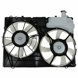 Dual Radiator Cooling Fan Assembly Motors Blades Shroud For 07 10 Toyota Sienna