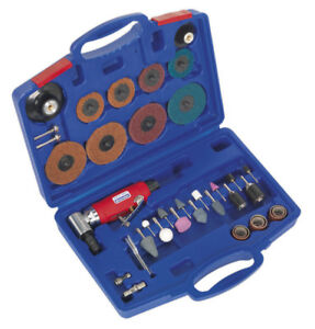 Generation Air Angle Die Grinder Sander Kit 42pc From Sealey Gsa674k Syc