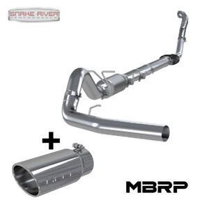 Mbrp 4 Exhaust W Tip For 1994 1997 Ford Powerstroke Diesel 7 3l Uses Stock Cat