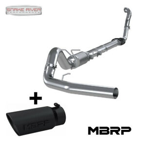 Mbrp 4 Exhaust For 94 97 Ford Powerstroke Diesel 7 3l Black Tip Uses Stock Cat