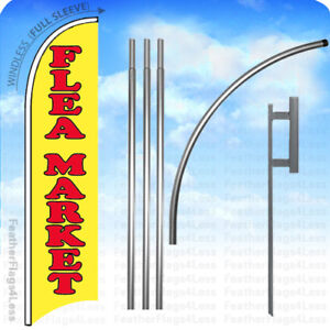 Flea Market Windless Swooper Feather Flag 15 Kit Banner Sign Yb