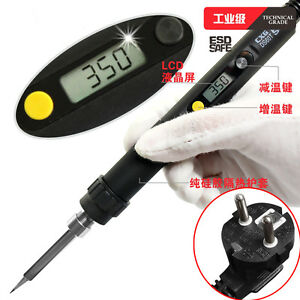 Ds60t Lcd Soldering Iron Eu Adjustable Temperature Digital Electric 220v 60w