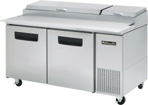 Blue Air Bapp67 Two Door Pizza Prep Table 67 Inches Refrigerator Refrigeration