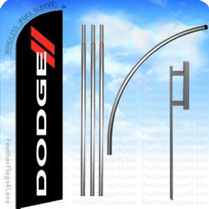 Dodge Windless Swooper Flag 15 Kit Feather Auto Dealer Banner Sign Kf