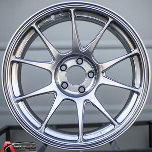 17x9 42 Rota Titan 5x100 Hyper Black Rims Fits Dodge Neon Srt4 Forester Outback