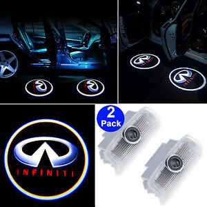 2x Logo Led Step Door Courtesy Welcome Light Ghost Laser Projector For Infiniti